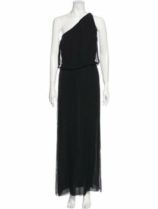 Christian Dior Vintage One-Shoulder Dress Black