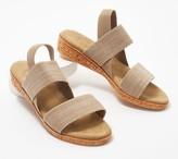 Charleston Shoe Co. Stretch Demi-Wedge Sandals-Collins