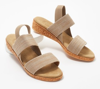 Charleston Shoe Co. Stretch Demi-Wedge Sandals-Collins