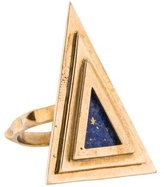 Pamela Love Triangle Lapis Lazuli Cocktail Ring