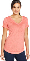 Style&Co. Style & Co V-Neck Burnout Pocket T-Shirt, Only at Macy's