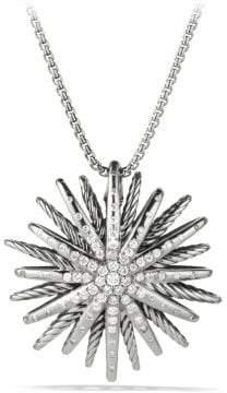 David Yurman Starburst Large Pendant Necklace With Diamonds, 37Mm