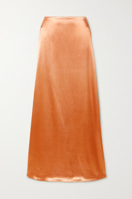 Jil Sander Satin Maxi Skirt - Peach