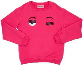 Chiara Ferragni Flirting Eye Cotton Sweatshirt