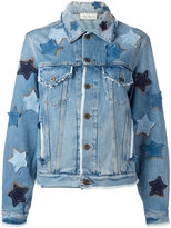 Faith Connexion star patches denim jacket - unisex - Cotton - M