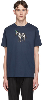 Paul Smith SSENSE Exclusive Blue Zebra Regular Fit T-Shirt