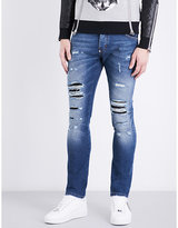 Philipp Plein Slim-fit Mid-rise Distressed Jeans