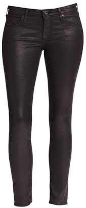 AG Jeans Mid-Rise Leatherette Ankle Leggings