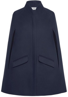 Allora Chelsea Wool Cashmere Cape Navy