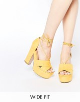 Asos HEATH Wide Fit Platform Sandals