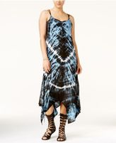 Raviya Tie-Dyed Hankerchief Hem Cover-Up Dress