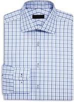 Ike Behar Check Over Check Regular Fit Dress Shirt
