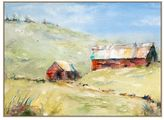 Pottery Barn Barnscape Canvas by Julie Hill