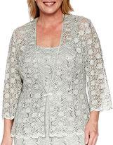 R & M Richards R&M Richards 3/4-Sleeve Lace Jacket Dress - Plus