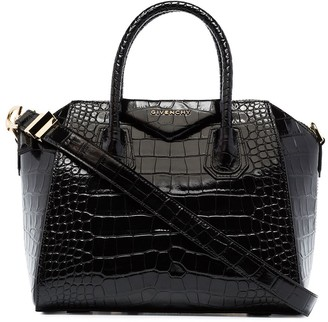 Givenchy Small Croc-Effect Leather Tote Bag