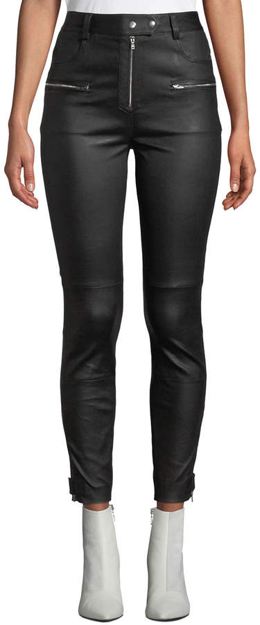 6baf5c99 Quilted Leather Pants - ShopStyle