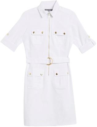 Sharagano Belted Utility Dress (Petite)