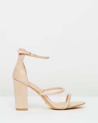Billini - Women's Neutrals Heeled Sandals - Marlie Block Heels - Size 5 at The Iconic