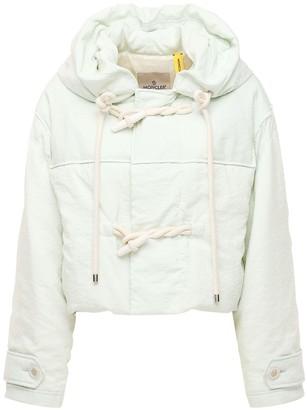 MONCLER GENIUS Whitepearl Silk Blend Short Down Jacket