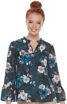 Elle Women's Ruffle Floral Blouse