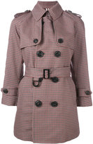 DSQUARED2 lightweight check coat - women - Cotton/Wool - 38