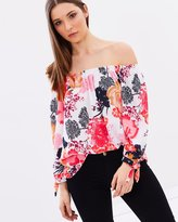 Wallis Tie Sleeve Bardot Top