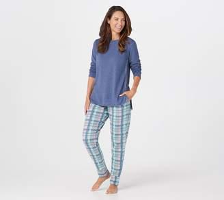 Cuddl Duds Petite Comfortwear Jogger Pajama Set