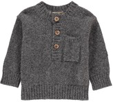 Babe & Tess Alpaca Jumper with Check Elbow Patches