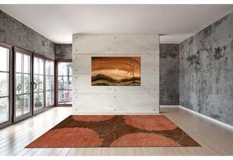 Soraya Astoria Grand Hand-Tufted Wool Brown Area Rug Astoria Grand Rug Size: 5' x 8'