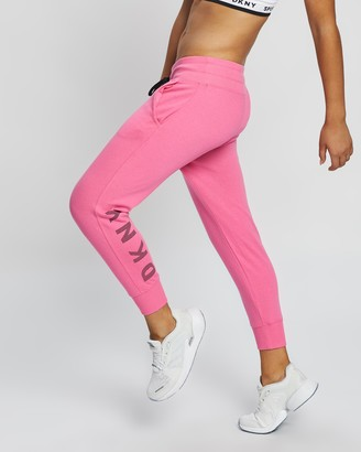 DKNY Striped Logo Cropped Joggers