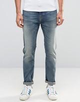 Nudie Jeans Brute Knut Drop Crotch Jeans Dakota Blue
