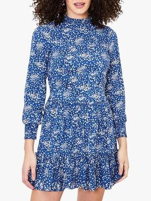 Oasis Sparkle Floral Ditsy Dress, Blue