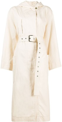 Etoile Isabel Marant Belted Hooded Trench Coat