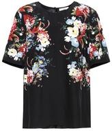 Erdem Armilla floral-printed silk top