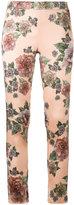 La Perla floral print skinny trousers - women - Silk/Spandex/Elastane - 42