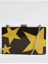 M&S Collection Star Perspex Clutch Bag