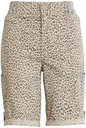 Wit & Wisdom Ab-Solution Leopard Print Cuff Bermuda Shorts