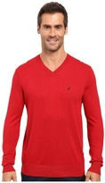 Nautica Solid V-Neck Sweater