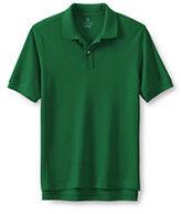 Classic Men's Banded Short Sleeve Mesh Polo-Black