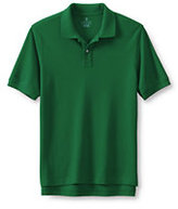 Classic Men's Big Banded Short Sleeve Mesh Polo-Evergreen