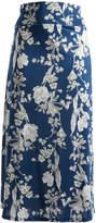 Glam Blue & White Floral Maxi Skirt - Plus