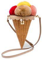Dolce & Gabbana Gelato Rabbit Fur & Leather Shoulder Bag