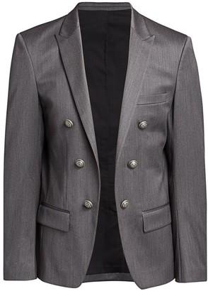 Balmain Twill Wool-Blend Jacket