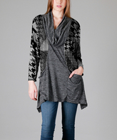 Aster Gray Pocket-Front Cowl Neck Tunic - Plus - Plus Too