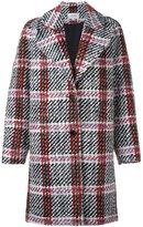 Carven plaid single breasted coat - women - Polyamide/Acetate/Viscose/Polyacrylic - 36