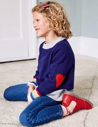 Boden Crochet Heart Patch Sweater