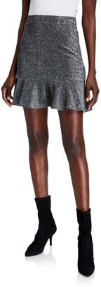 MICHAEL Michael Kors Metallic Flippy Mini Skirt