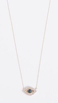 Adina Reyter 14k Gold Tiny Pave Evil Eye Necklace