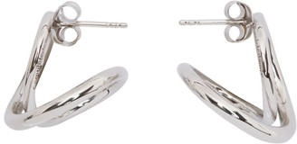 COMPLETEDWORKS Silver The Curve Of Time Earrings