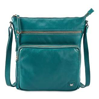 Wise Owl Genuine Leather Crossbody Handbags & Purses for Women -Premium Crossover Over the Shoulder Bag ()
